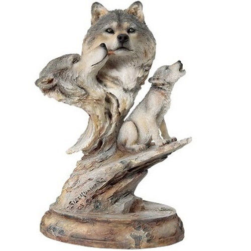 """Wolf Sculpture """"Family Song"""""""