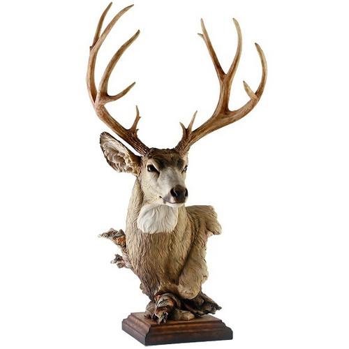 """Mule Deer Sculpture"""" Out West"""""""