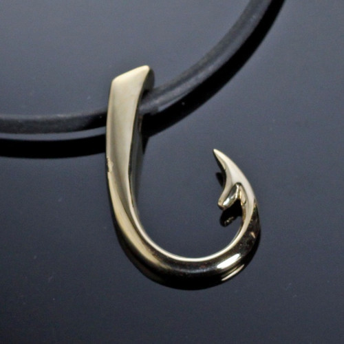 Hook Bronze Large Pendant Necklace | Nature Jewelry
