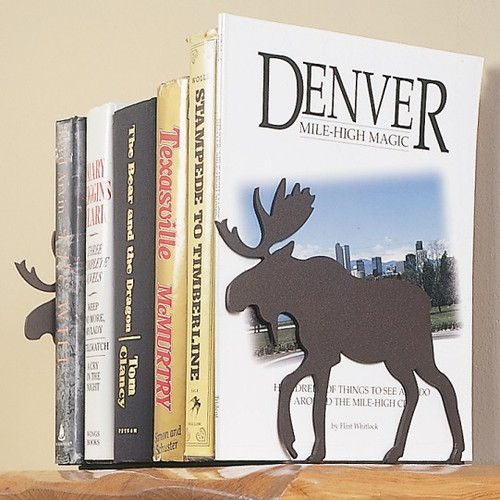 Moose Silhouette Bookends