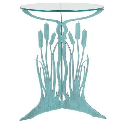 Cattail Glass Top Table