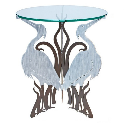 Heron Glass Top Table