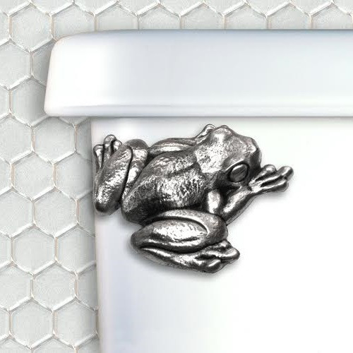 Frog Pewter Toilet Flush Handle