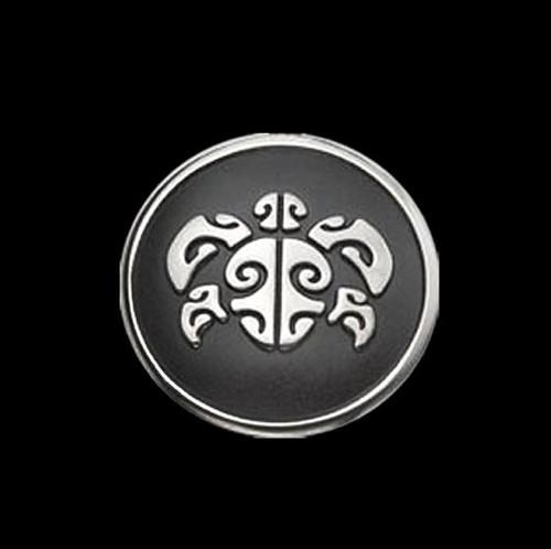 Honu Sea Turtle Round Pendant Necklace | Nature Jewelry