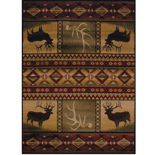 Deer Area Rug Antler Lake United Weavers