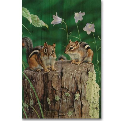 Chipmunks Wood Wall Art