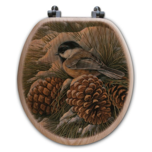 "Chickadee Toilet Seat ""December Dawn"""