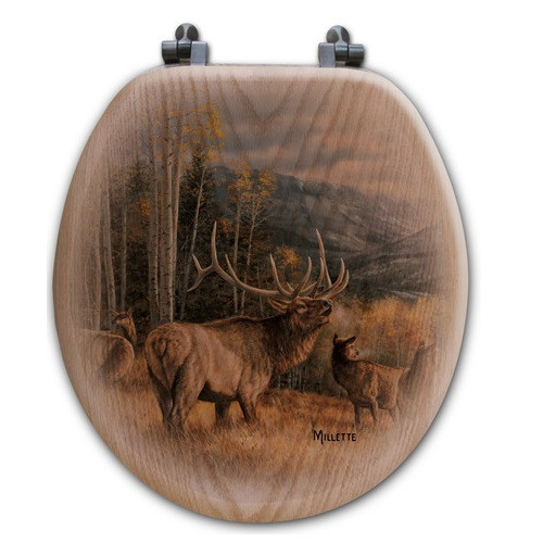 "Elk Toilet Seat ""Meadow Music"""