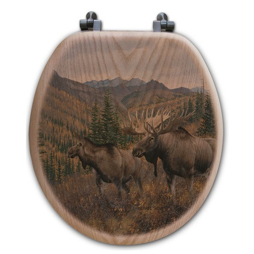 "Moose Toilet Seat ""Ridge"""