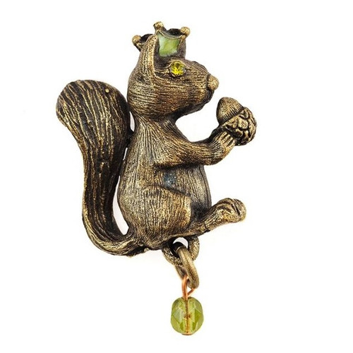 Squirrel Stud Pin | Nature Jewelry