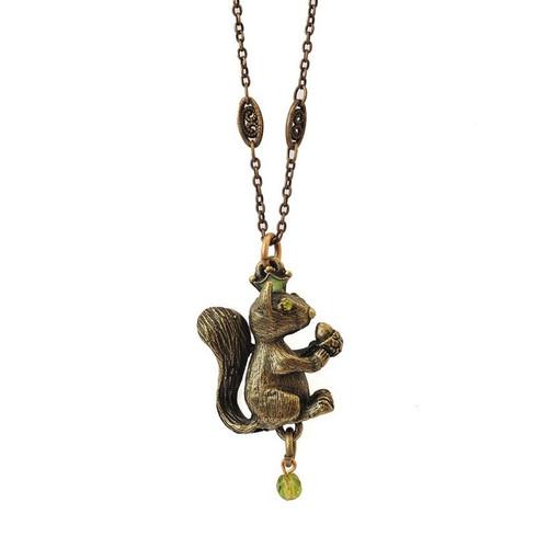Squirrel Pendant Necklace