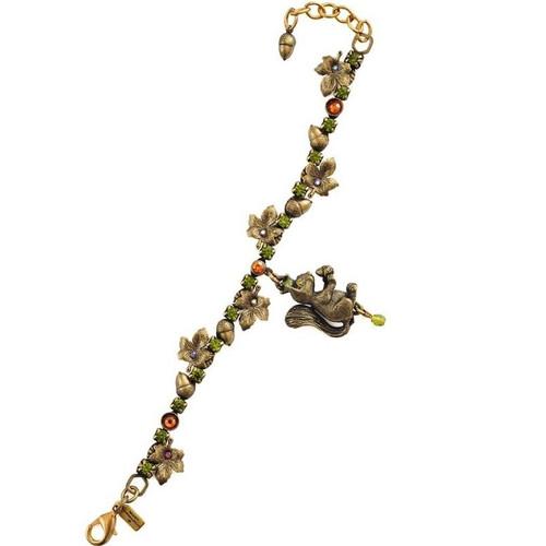 Squirrel Charm Bracelet | Nature Jewelry
