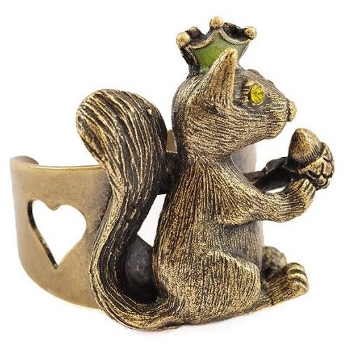 Squirrel With Nut Ring | Nature Jewelry