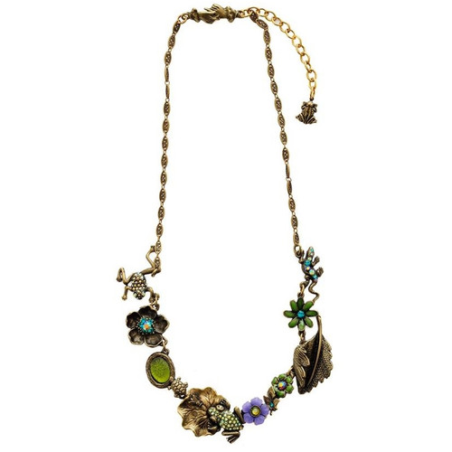 Frogs Asymmetrical Necklace   Nature Jewelry