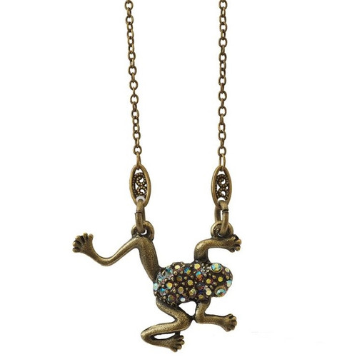 Frog Pendant Necklace   Nature Jewelry