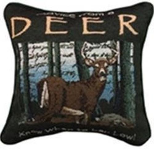 Deer Advice Tapestry Pillow