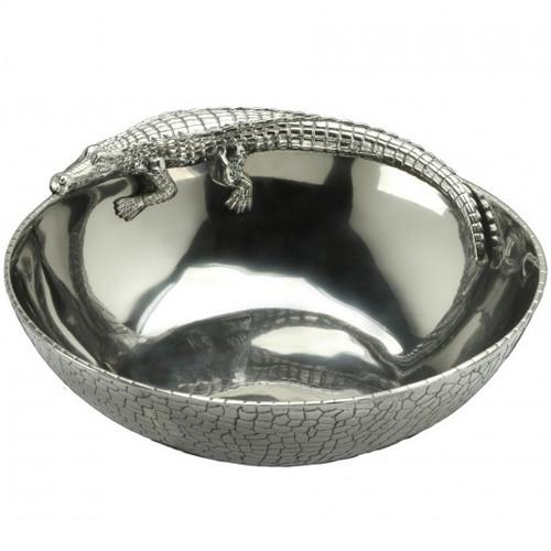Alligator 12 inch Figural Bowl