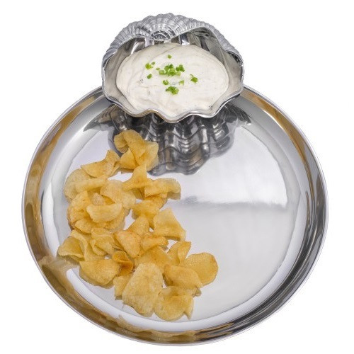 Clam Chip and Dip Tray
