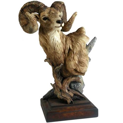 """Bighorn Sheep Sculpture """"Level Headed"""""""