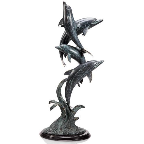 """Dolphin Quartet Sculpture """"Oceanic Ballet""""   80298"""