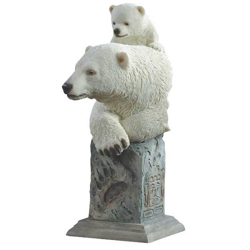 "Polar Bears Sculpture ""Snow Cone"""