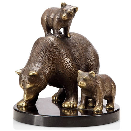 "Bear And Cubs Sculpture ""Tahoe Trio"" 