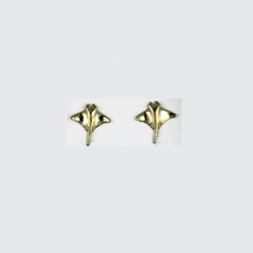 Manta Ray 14K Gold Post Earrings | Nature Jewelry