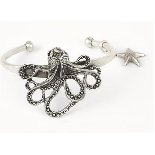 Octopus Cuff Bracelet | Nature Jewelry