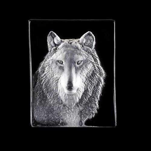 Wolf Crystal Sculpture   34124