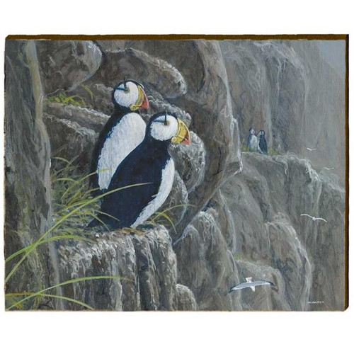 Puffin Wood Wall Art 30x24 | Mill Wood Art | ZOVE1-30x24