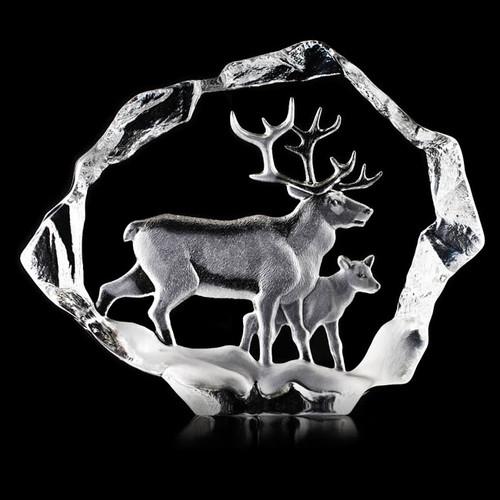 Reindeer Ltd Ed Crystal Sculpture | 34151