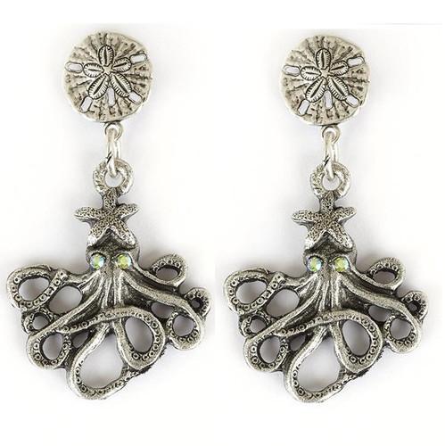 Octopus Drop Earrings | Nature Jewelry