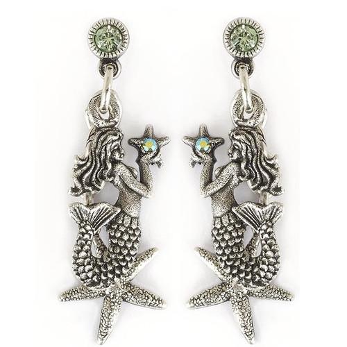 Mermaid Starfish Earrings   Nature Jewelry