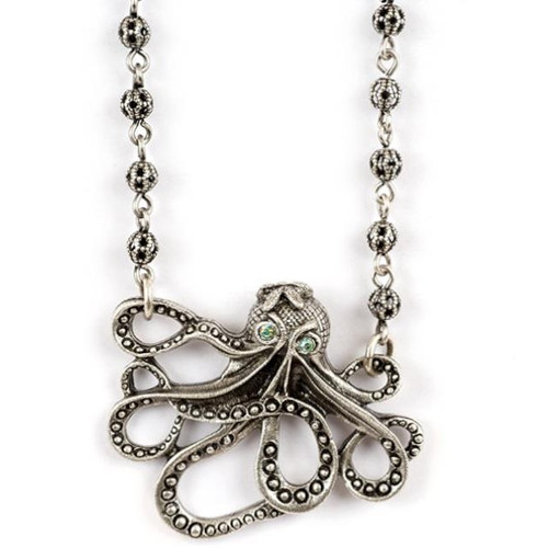 Octopus Pendant Necklace | Nature Jewelry