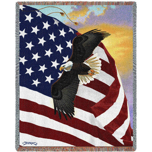 "Eagle Tapestry Throw Blanket ""Majestic Eagle"""