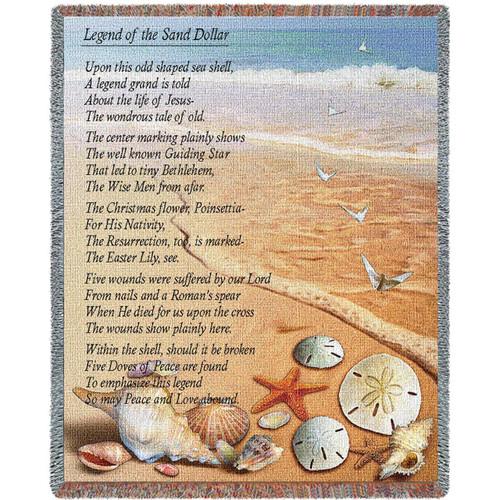 Sand Dollar Throw Blanket