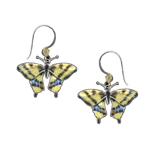 Swallowtail Butterfly Cloisonne Wire Earrings | Nature Jewelry