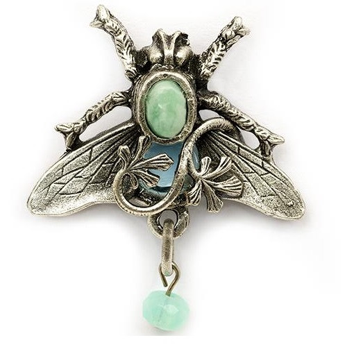Bee and Vine Pin | Nature Jewelry