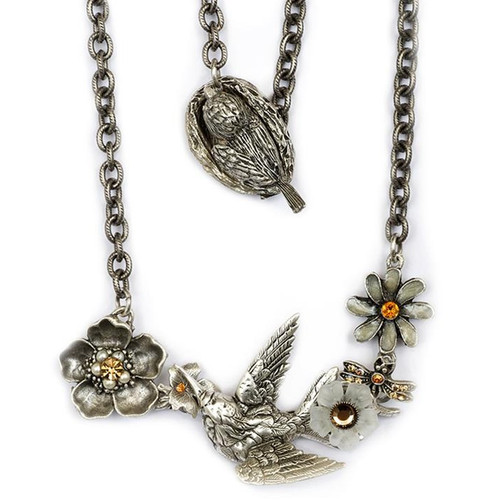 Hummingbird Necklace   Nature Jewelry