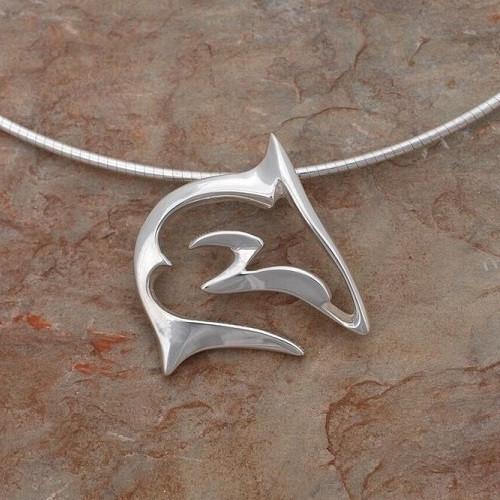 "Shark Pendant Necklace ""Frenzy""   Roland St. John Jewelry"