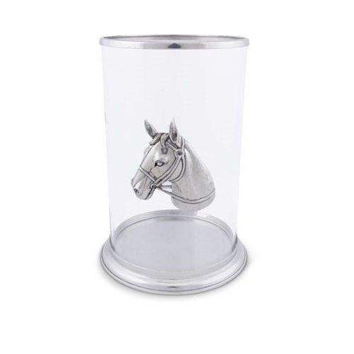 Horse Head Pillar Candle Holder