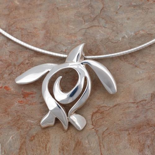 "Sea Turtle Pendant Necklace ""Ocean Traveler"" | Roland St. John Jewelry"