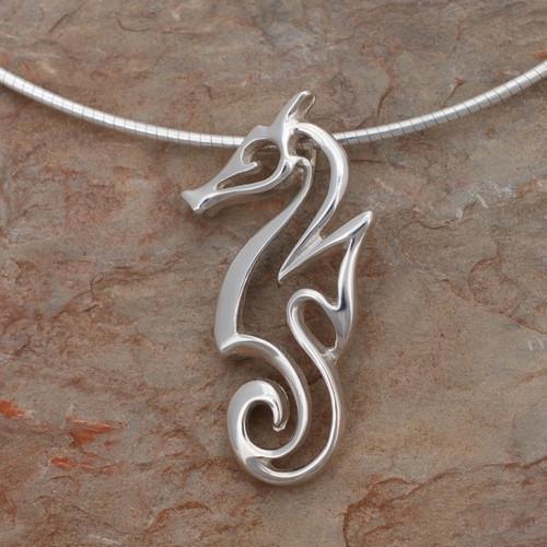 "Seahorse Pendant Necklace ""Polo"" | Roland St. John Jewelry"