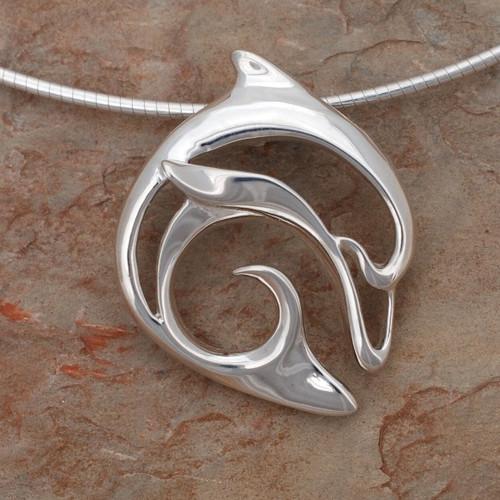 "Dolphin Pendant Necklace ""Flipper"" | Roland St. John Jewelry"