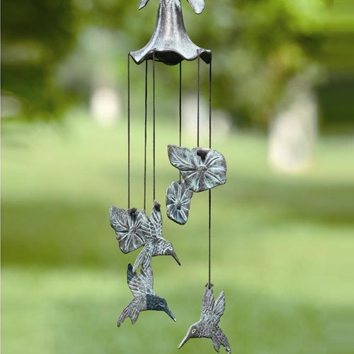 Morning Glory & Hummingbird Wind Chime | 33078