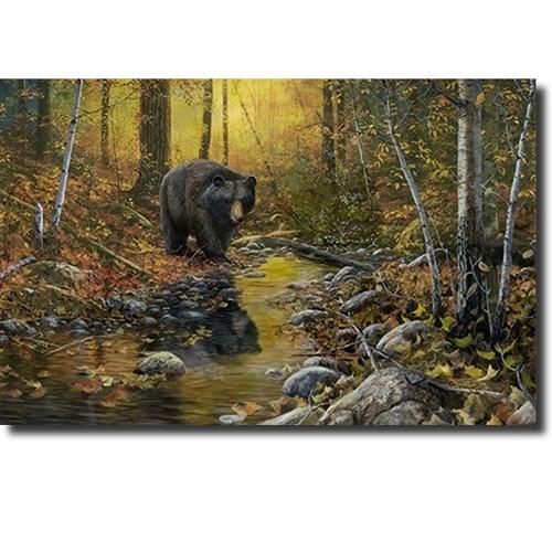 "Bear Print ""Last Days of Autumn"""