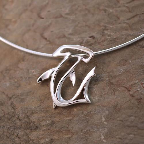 Hammerhead Shark Pendant Necklace   Roland St. John Jewelry