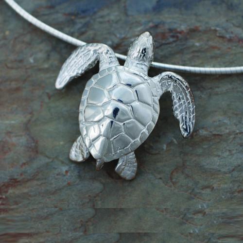 Green Sea Turtle Pendant Necklace | Roland St. John Jewelry