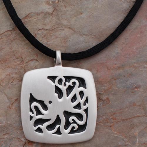 Octopus Pendant Silver Necklace | Roland St. John Jewelry