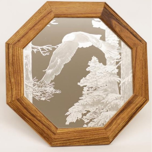 "Eagle Oak Mirror ""American Heritage"""